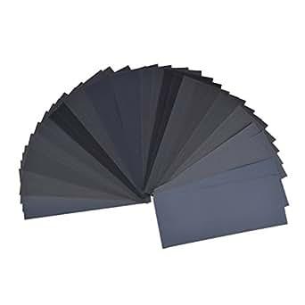 ueetek assortiment de papier de verre grain 400 3000 36pcs sec humide pour la finition de. Black Bedroom Furniture Sets. Home Design Ideas