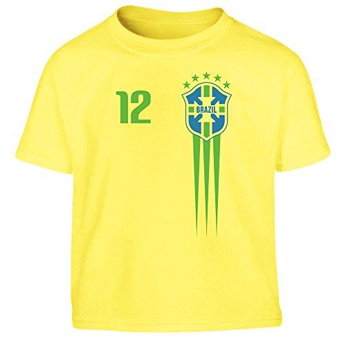 Shirtgeil Maglia x Bimbi Coppa del Mondo 2018 Nazionale Brasile Maglietta per Bambini