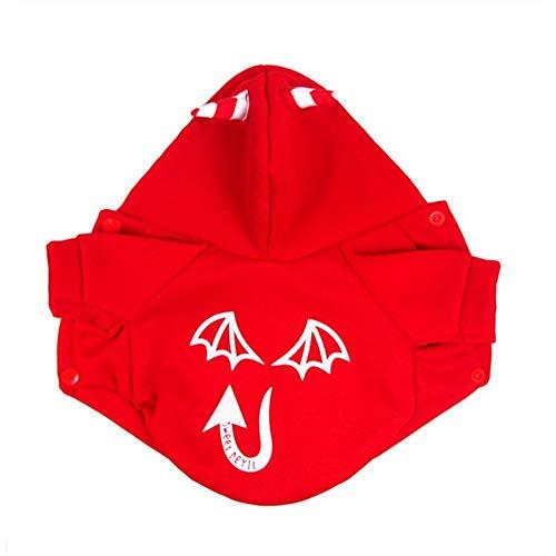 Haustier-Kleidung Halloween-Teufel-leuchtender Mantelhündchen kleidet kleine Hundekleidung Costume Pet Kleidung für kleine Hunde (Farbe : Rot, größe : XL)
