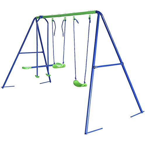 JCF Altalena 3 in 1 da Giardino per Bambini, 260*180*138 cm