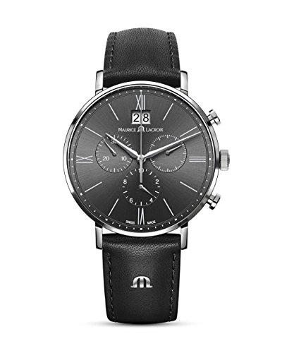 MAURICE LACROIX der Schweizer Chronograph Eliros EL1088-SS001-811-1 Herren Armband Uhr analog Quarzwerk batteriebetrieben aus Edelstahl 5 bar luxuriös schweizerische Qualität