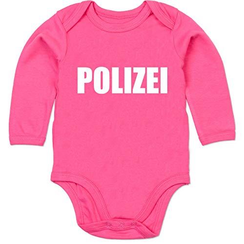 Armee Kostüm Gruppe - Shirtracer Karneval und Fasching Baby - Polizei Karneval Kostüm - 3-6 Monate - Fuchsia - BZ30 - Baby Body Langarm
