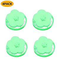 Carolui Washing Machine Filter Bag Hair Fur Floating Catcher Filtering Net Pouch Reusable Portable Washer Lint Catcher Washer Cleaning Supplies (4*Green)