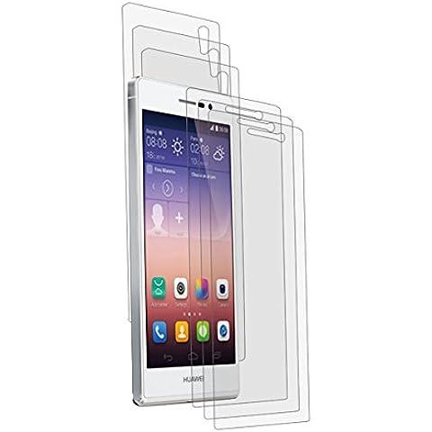 6x Alamea Huawei Ascend P7 Schutzfolie (3x vorne - 3x hinten) - passgenaue Folie in antireflektierender Premium Qualität zum Schutz Ihres