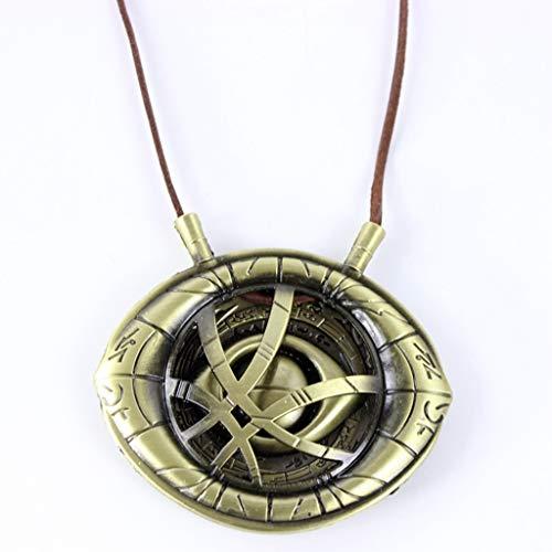 QWEASZER Avengers Infinity War Doctor Strange Halskette Eye of Agamotto Anhänger Marvel Anhänger - Super Hero Cosplay Halskette,Copper-OneSize