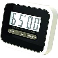 Haodou Temporizador de cocina digital Imán digital Temporizador de cocina Reloj de cuenta atrás con pantalla LCD grande y alarma fuerte (Negro)
