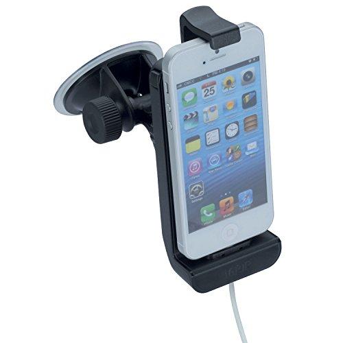 iGRIP T5-30410 Dock Kit - Halterung mit Lademöglichkeit für Apple Telefone (iPhone SE / 5S / 5C / 5 iPod Touch (alle Gen.)) [5 Jahre Garantie I Made in Germany I 360 Grad drehbar I vibrationsfrei] Iphone 3g-auto-kit