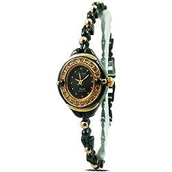 New Fashion Ladies Watch Bracelet Black / Rose Gold Strap Analogue Dial Quartz