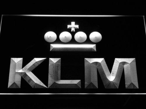 KLM LED Zeichen Werbung Neonschild Weiß