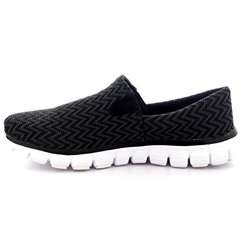 Damen Gehen Schlüpfen Sports Laufen Schuhe Jogging Arbeit Ausbilder Schwarz/Weiß