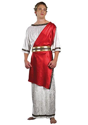 Blumen Paolo–Ne römischer Kaiser Kostüm Erwachsene Mens, weiß, Größe 52–54, 62016
