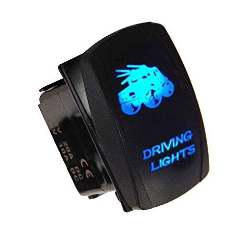 Mintice/™ Interrupteur /à Bascule Commutateur Lampe Lumi/ère LED Rouge 12V 20A pour Voiture Bateau Moto Bar Light