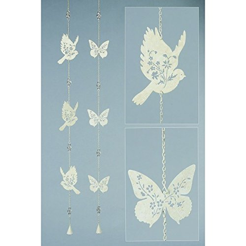 Guirlande papillons en métal, le lot de (2 Metal Parete)