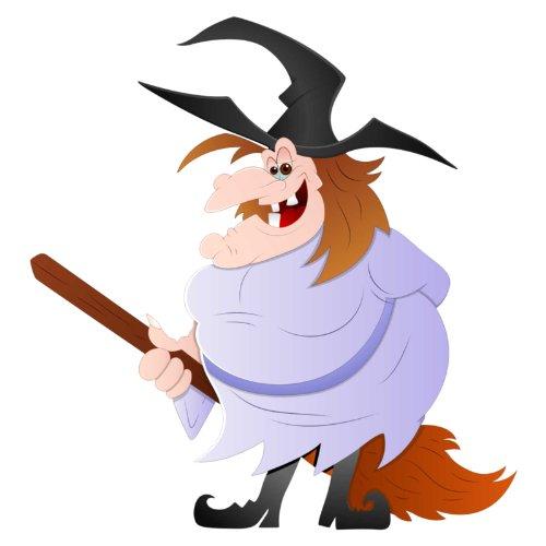 V-T-Shirt - Hexe 12 - Halloween - witch - Damen Weiß