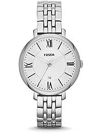 Fossil Jacqueline Edelstahlarmband Uhr für Damen silber / Edelstahl Uhr mit Quarz Uhrwerk & analoger Datumsanzeige - idealer Begleiter für jede Gelegenheit