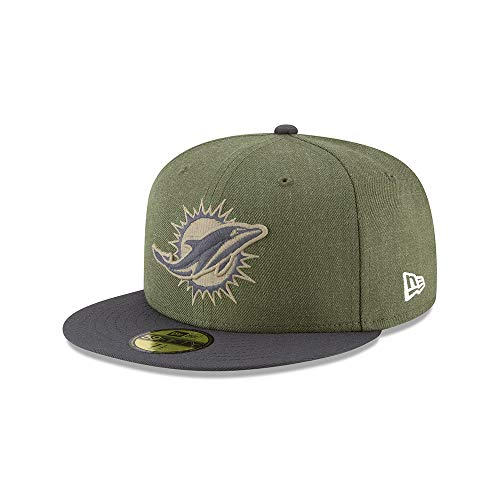New Era Miami Dolphins 59fifty Basecap On Field 2018 Salute to Service Green - 7 3/4-62cm (Hut 7.75)