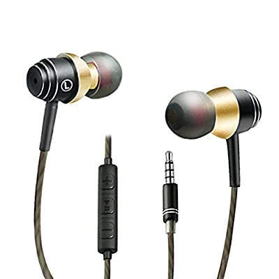 Earphones, Sadun Headphones with Microphone and Remote, In-ear Sports Headset for iPhone Android Smartphones iPad iPod Mac Laptop Tablets