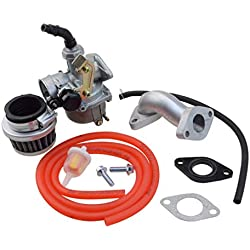 GOOFIT PZ19 Carburateur avec filtre à air Carburateur Rebuild Kit pour XR CRF 50cc 70cc 90cc 110cc 125cc Mobylette ATV POLARIS Taotao Sunl Roketa Baja Kazuma Rouge