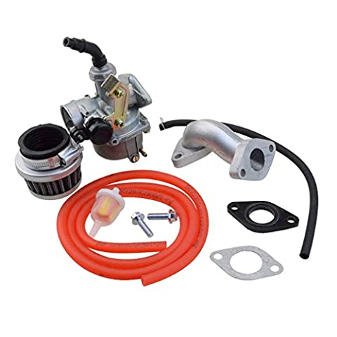 goofit PZ19 Vergaser mit Luftfilter Vergaser Rebuild Kit für Honda XR/CRF 50 cc 70 cc 90 cc 110 cc 125 cc Moped ATV Polaris TAOTAO SunL rokata KYMCO JONWAY Baja Kazuma