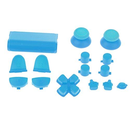 rsatz L2 R2 L1 R1 Tasten Knöpfe Analog Stick Für Sony PS4 Controller - Blau ()