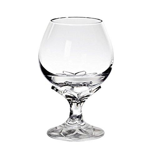 "Cognacschwenker, Cognacglas, Schwenker ""AORA"" Blüte, transparent, Bleikristall, 13 cm, moderner Style (GERMAN CRYSTAL powered by CRISTALICA)"