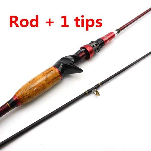 FISHYY Angelrute Carbon Rod 1.8M Dehnung 2.1M Casting Rods Extra-schnelle Aktion M 2 Tipps Test 10-25g Angelrute