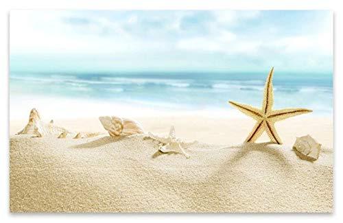 Hd Carta Da Parati Murale Carta Da Parati 3D Murale Per Soggiorno Green Beach Conchiglie E Stelle Marine Personalizzato Murales Di Arte Moderna Pittura Murale Di Alta Qualità