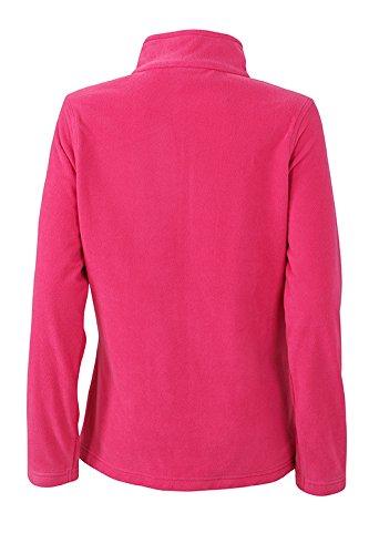 James & Nicholson T-shirt Basic Veste polaire pour femme rose bonbon