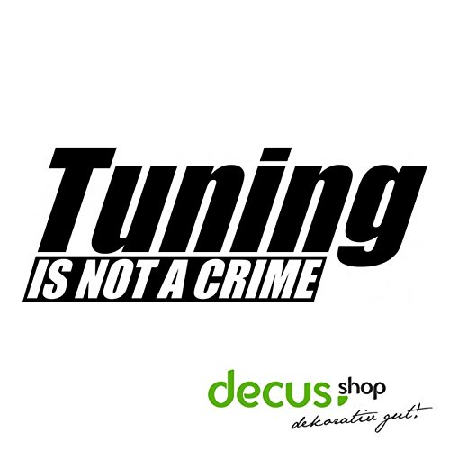 TUNING IS NOT A CRIME L 2510 // Sticker OEM JDM Style Aufkleber (Rot)