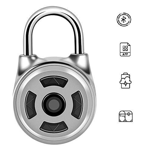 Candado Bluetooth, candado sin llave con candado inteligente, bloqueo de Bluetooth APLICACIÓN inteligente...