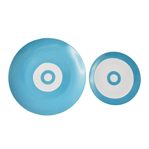 impatto-paris-40682-technicolor-piatto-piano-in-porcellana-27-x-27-x-2-cm-colore-marrone-modello-gra