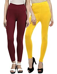 Sakhi Sang Legging Pack of 2 : Maroon & Yellow