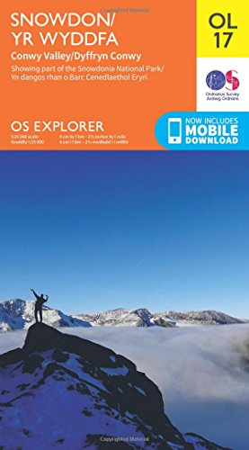 OS Explorer OL17 Snowdon & Conwy Valley (OS Explorer Map) Test