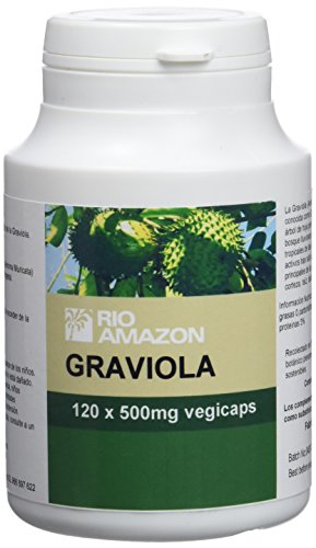 Rio Amazon, Cápsulas de Graviola 500 mg, 120 cápsulas.