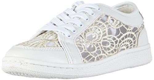 Sofie Schnoor Lace Sneaker, Baskets Basses femme Ivoire - Elfenbein (Off white)