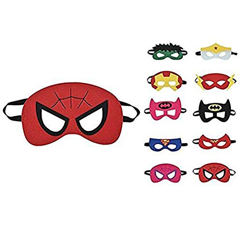 thematys Kinder-Masken Superhelden Maske 10er Set -