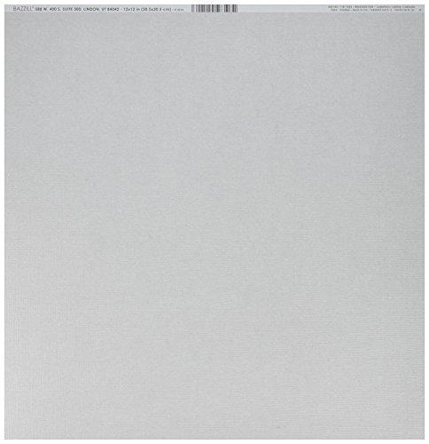 Bazzill Basics Papier für ScrapBooking, Strass Tiara Blatt, grau, 25-er Packung -