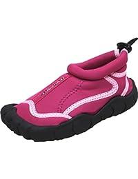 Bockstiegel LANGEOOG Zapatos de Agua | Niños | Bebés | Suela perfilada | Neopreno, Tamaño:33, Color LANGEOOG - Fuchsia