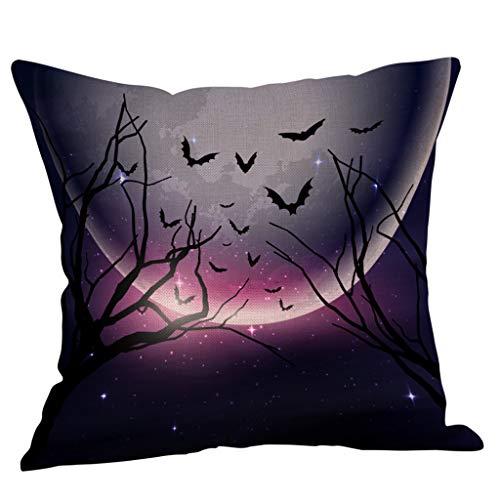 LOLIANNI Herbst Halloween Deep Color Kissenbezug Home Decor Taille Throw Kissenbezug Sofa 45 cm x 45 cm Polyester Kissenbezug