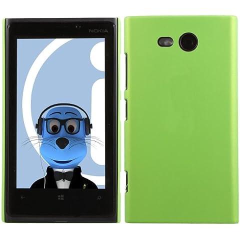 iTALKonline Nokia Lumia 820 VERDE Difficile Saluto dura della cassa della pelle Soft Grip Slim