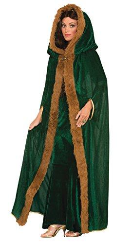 Forum Renaissance Kostüm - Bristol Novelty Forum Novelties AC583  Cape mit Kunstfellbesatz, Grün