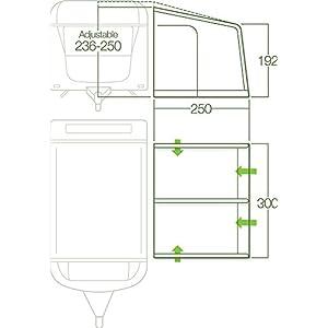 Lichfield Dakota Caravan Awning, Unisex Adulto, Excalibur, Talla Única