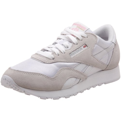 Reebok Classic Nylon, Damen Sneakers, Weiß (White/Light Grey), 39 EU (6 Damen UK)