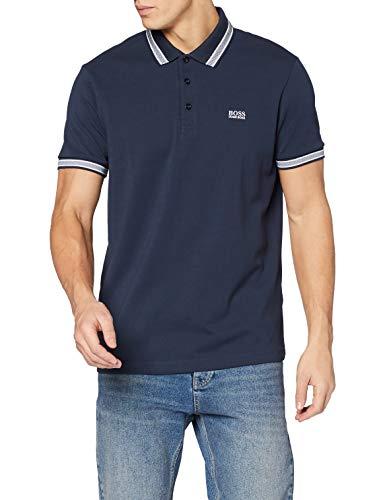 BOSS Herren Paddy' Poloshirt, Blau (Navy 414), Small