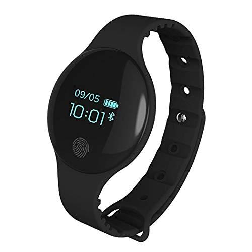 melysEU Hombres Mujeres Unisex Bluetooth Smart Watch Teléfono Impermeable Frecuencia cardíaca Presión Arterial, con cámara Compatible con Android iOS Juvenil Inteligente Teléfono (Negro)