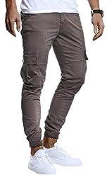 Leif Nelson Herren Hose Jeans Stretch Jeanshose Chino Cargo Chinohose Jogger Freizeithose Stretch Slim Fit LN9285; W31L30, Anthrazit