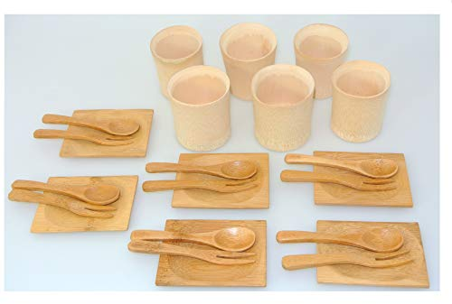 INTERKITCHEN Bambus Holz Set fur Party Lebensmittel Mini-ramekin