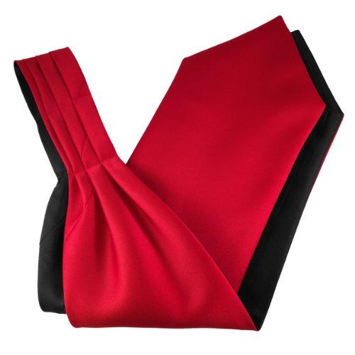 Ascot-schal (Herren Satin Ascot Krawatte - Verschiedene Farben (Rot))