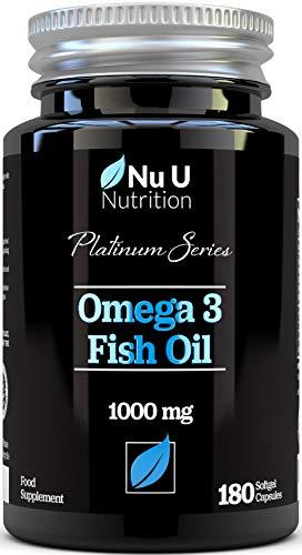 4ee53159e5f Omega 3 Fish Oil 1000mg Double Strength EPA   DHA Softgel Capsules
