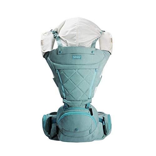 FIFY Babytrage Babybügel-Taillenhocker Breathable Schulterbabytaillenschemel Multi Funktionsaxt Luftfahrtaluminiumhockerkernhalt Babytaillenhocker Vier Jahreszeiten vorhandenes ax16 Pulverkristall, A